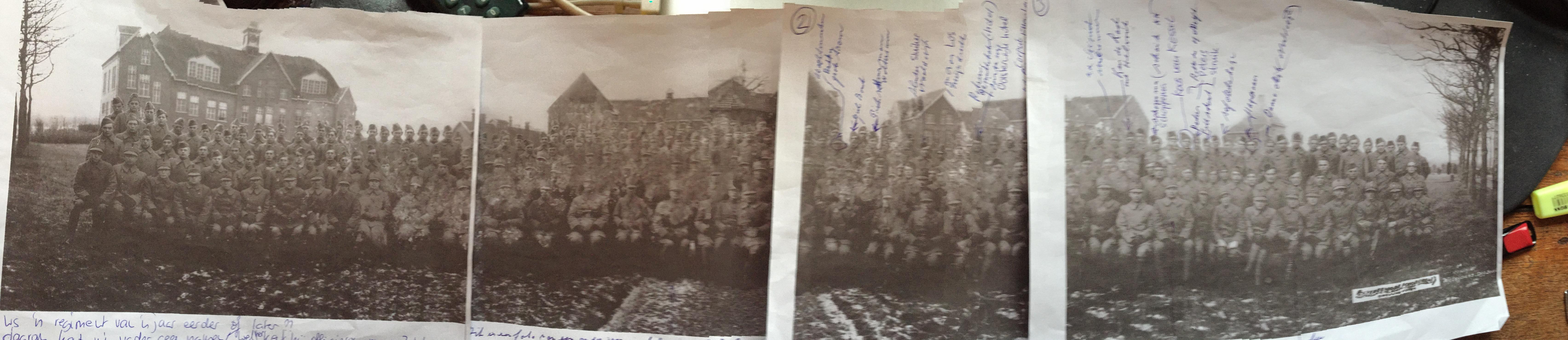 1e Regiment Wielrijders op de Isabellakazerne (vermoedelijk 1936)