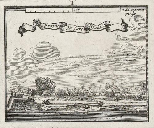 Profiel van Fort Isabella op de Expugnatiokaart van 1629, Balthasar Florisz. van Berckenrode, Salomon Savery, Adriaen Pietersz. van de Venne, 1629